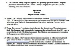 002 Staggering Operating Agreement Template For Llc Picture  Form Florida Texa