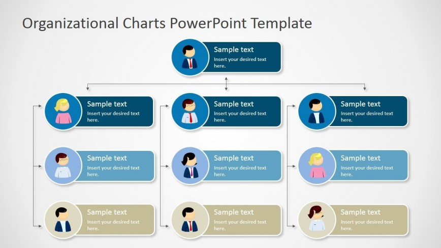 002 Staggering Organizational Chart Template Powerpoint Free Design  Structure Ppt Download Org