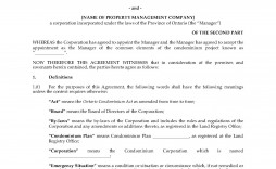 002 Staggering Property Management Agreement Template Ontario Idea  Contract