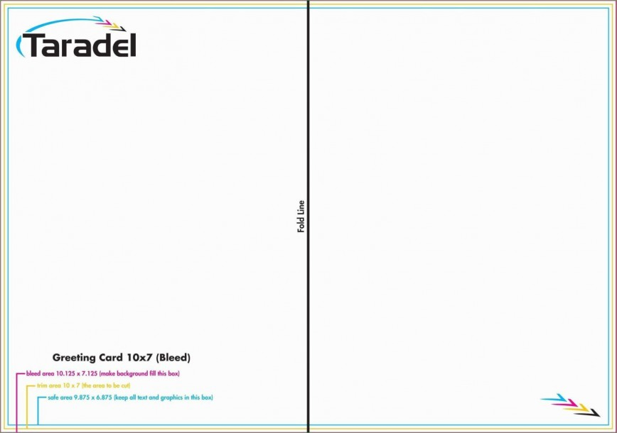 002 Staggering Quarter Fold Card Template Word Blank Image