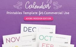 002 Stirring 2020 Calendar Template Indesign Concept  Adobe Free