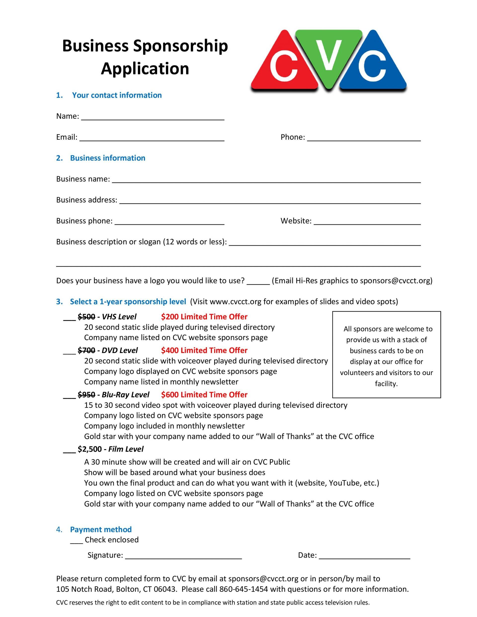 002 Stirring Event Sponsorship Form Template High Resolution  Sponsor Request1920