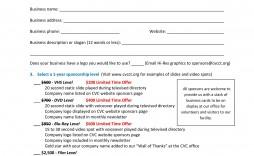 002 Stirring Event Sponsorship Form Template High Resolution  Sponsor Request