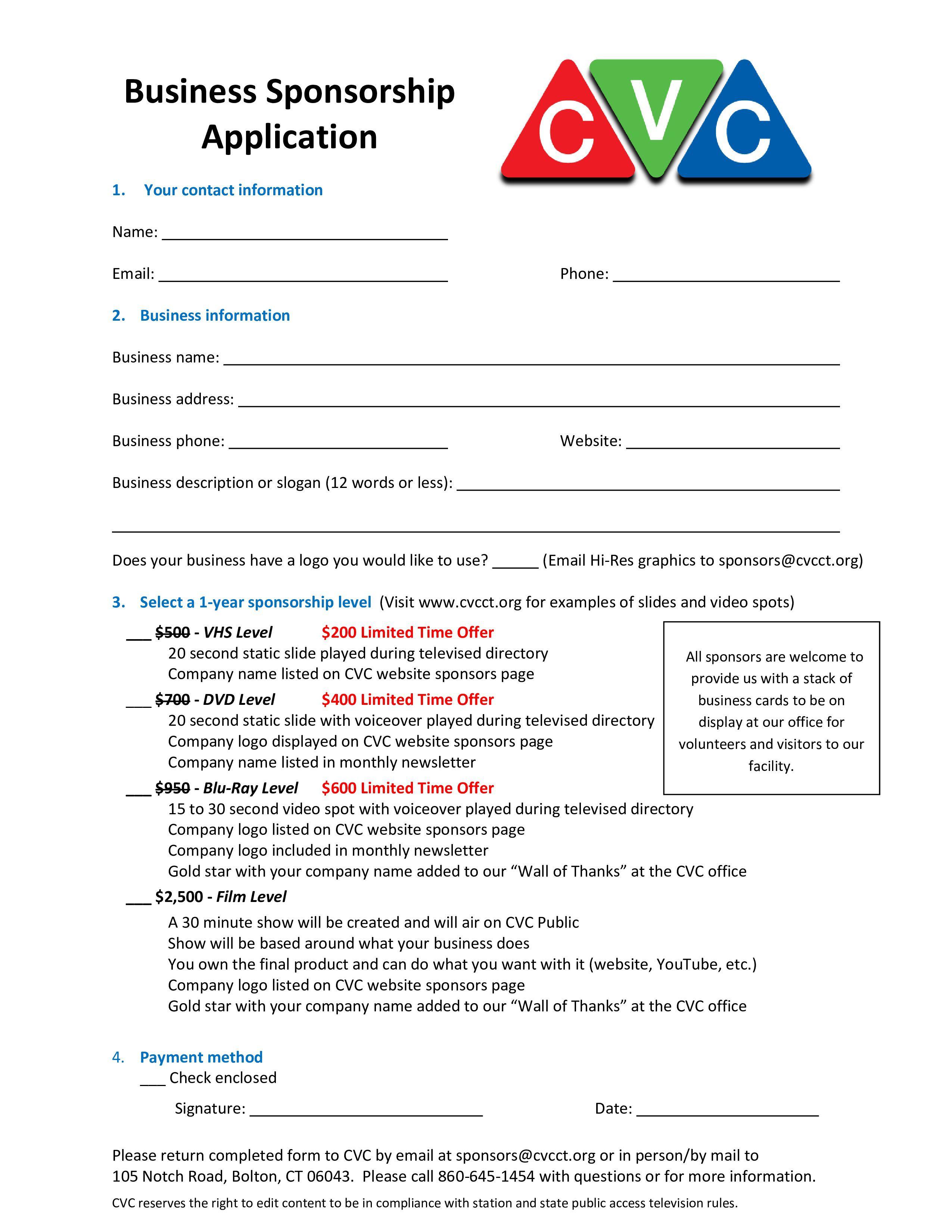 002 Stirring Event Sponsorship Form Template High Resolution  Sponsor RequestFull