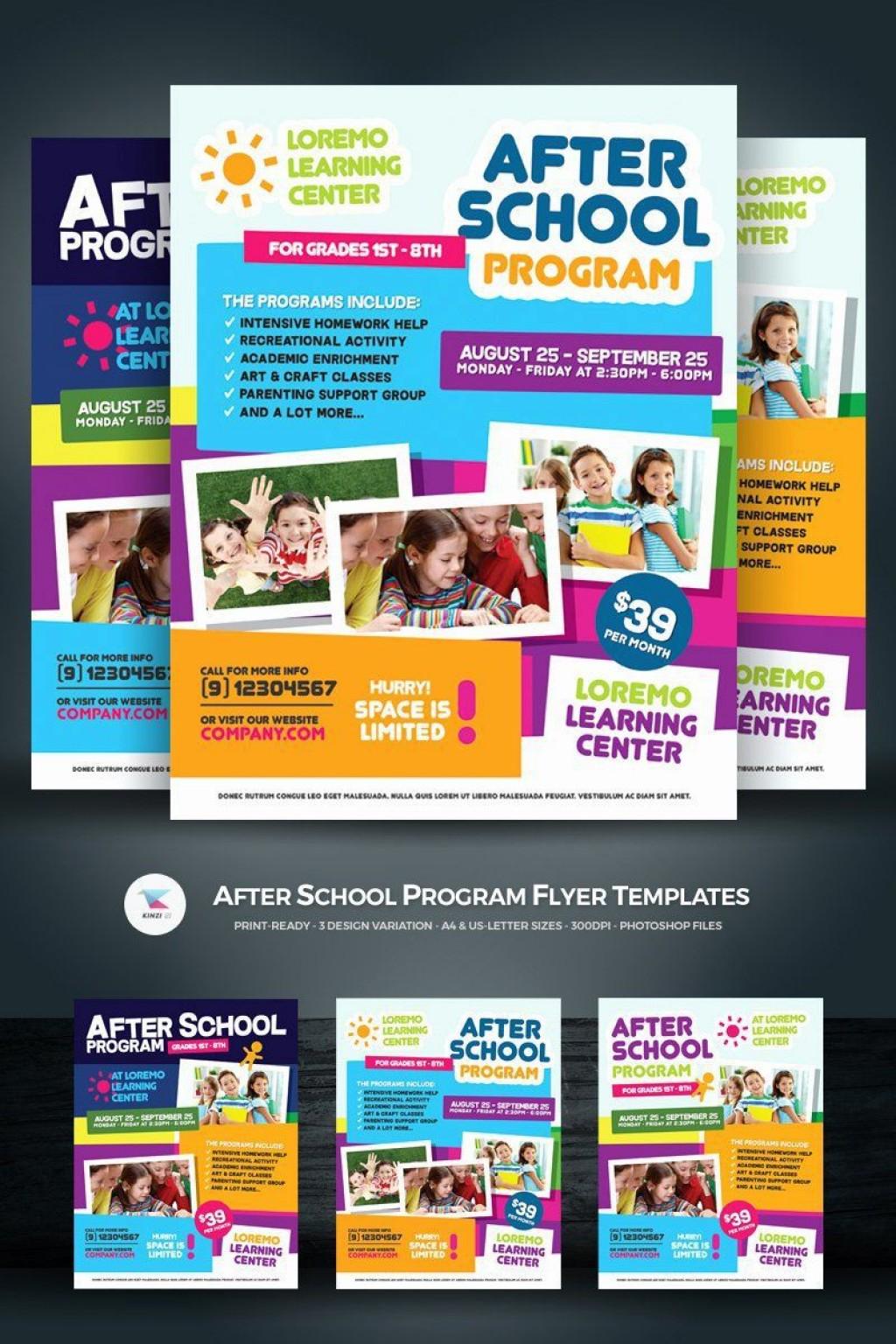 002 Stirring Free After School Program Flyer Template Idea Large