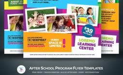 002 Stirring Free After School Program Flyer Template Idea