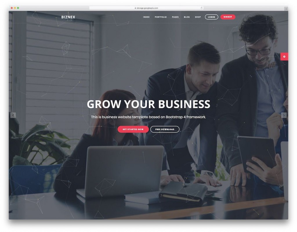 002 Stirring Free Busines Website Template Download Html And Cs Jquery Image  Responsive For It CompanyLarge