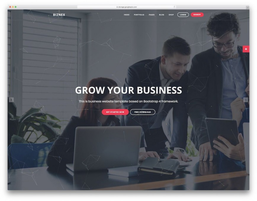 002 Stirring Free Busines Website Template Download Html And Cs Jquery Image  For It Company Responsive