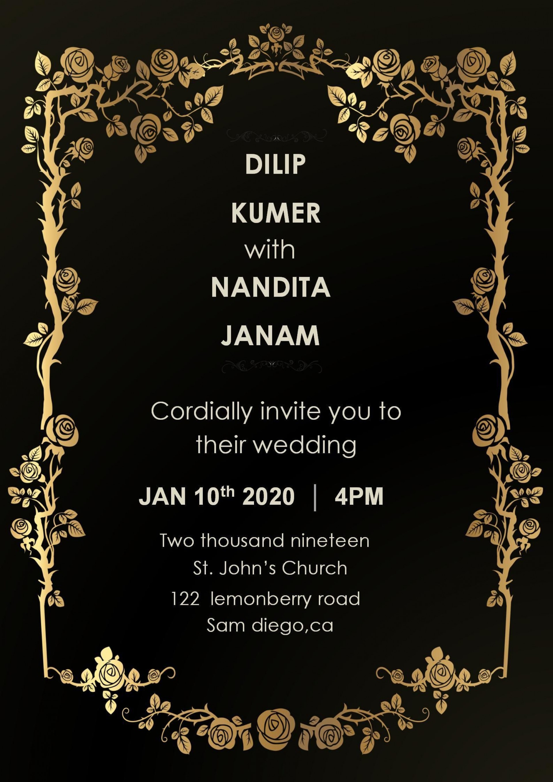 002 Stirring Free Download Invitation Card Template Photo  Templates Indian Wedding Design Software Png1920