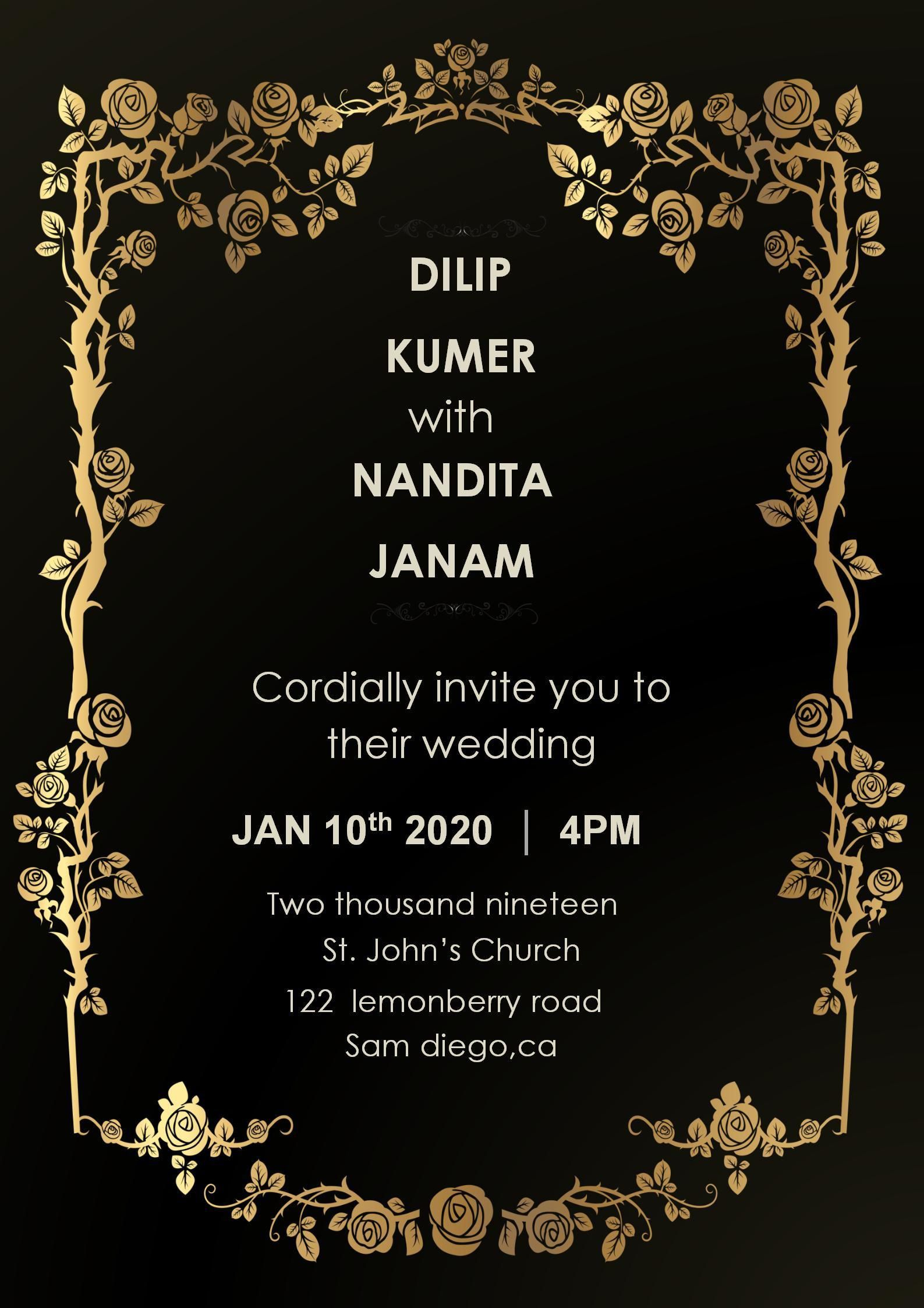 002 Stirring Free Download Invitation Card Template Photo  Templates Indian Wedding Design Software PngFull