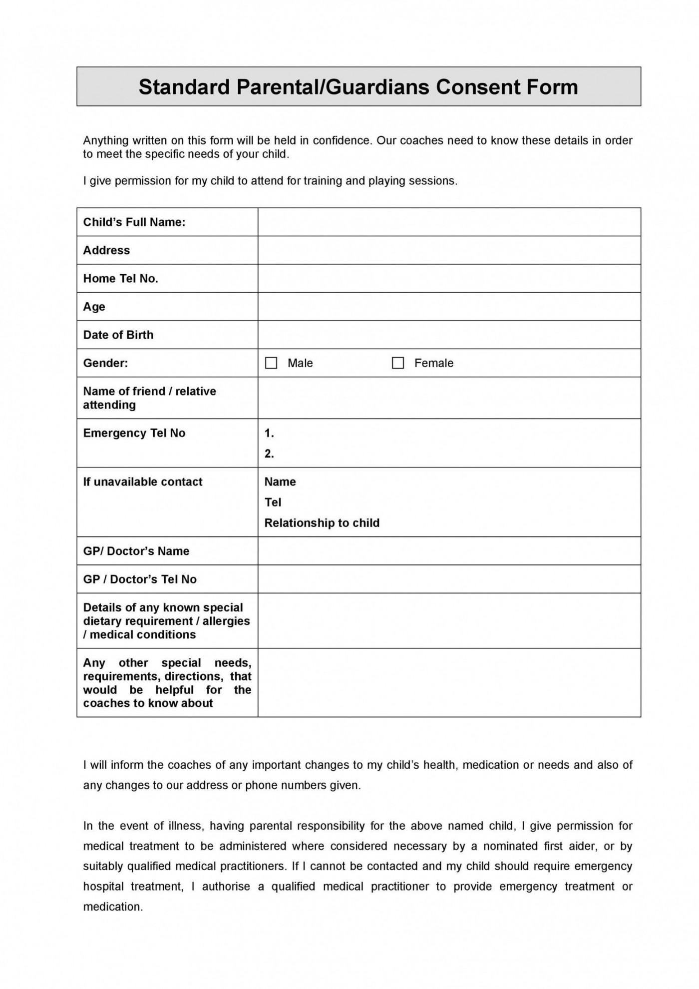 002 Stirring Free Printable Medical Consent Form Template Idea 1400
