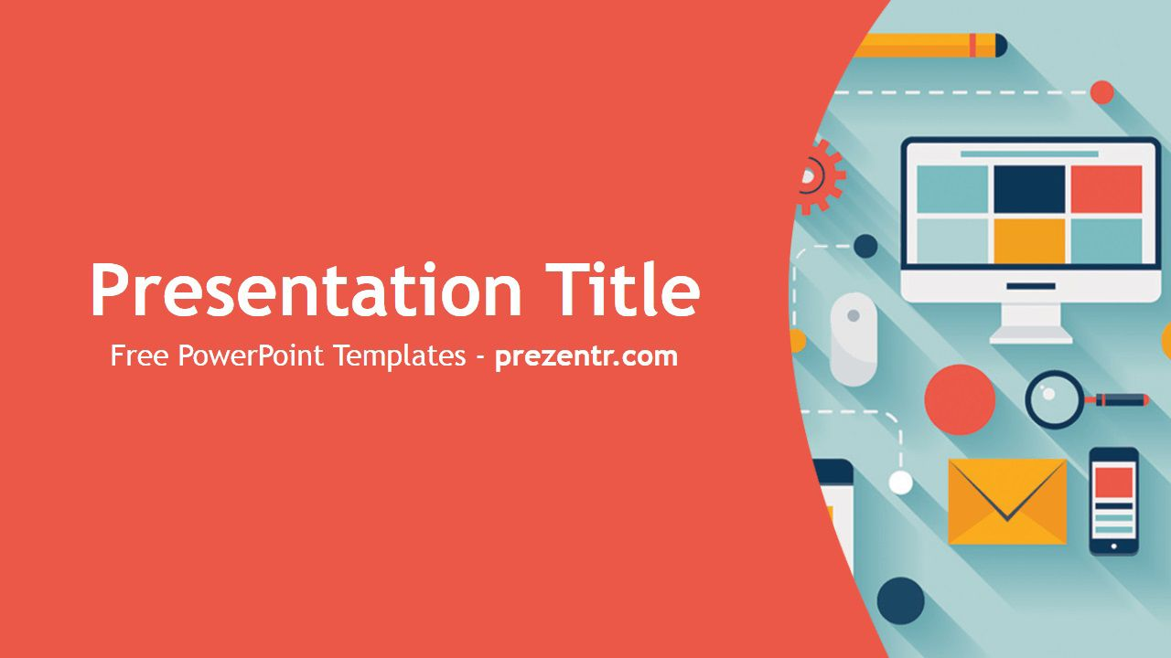 002 Stirring Free Technology Powerpoint Template Design  Templates Animated Information DownloadFull