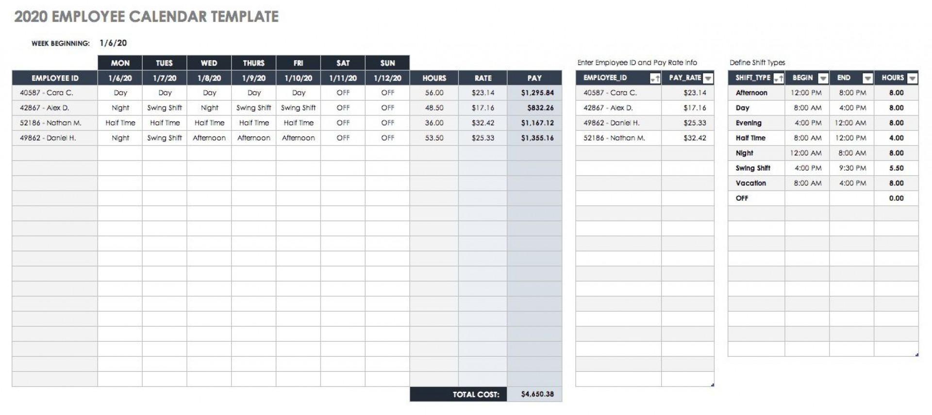 002 Stirring Google Doc Calendar Template 2020 Concept  Drive Sheet Weekly1920