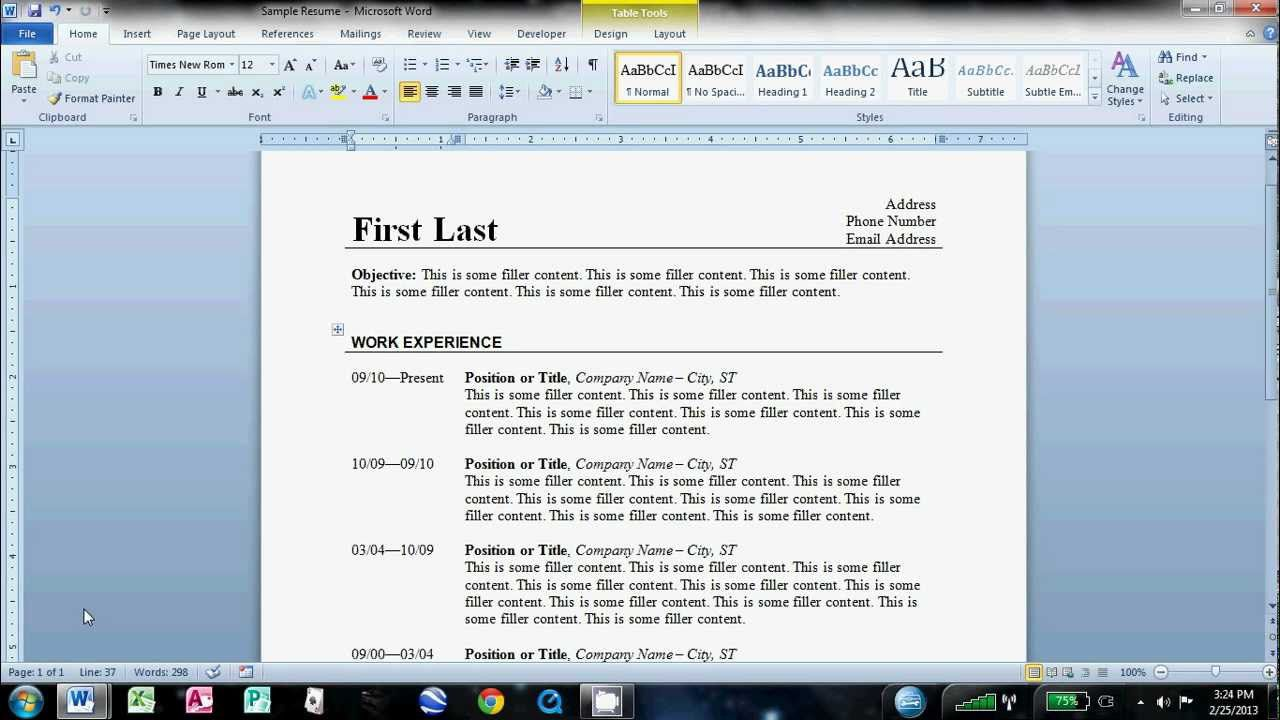 002 Stirring How To Create A Resume Template In Microsoft Word Design  Cv/resume DocxFull