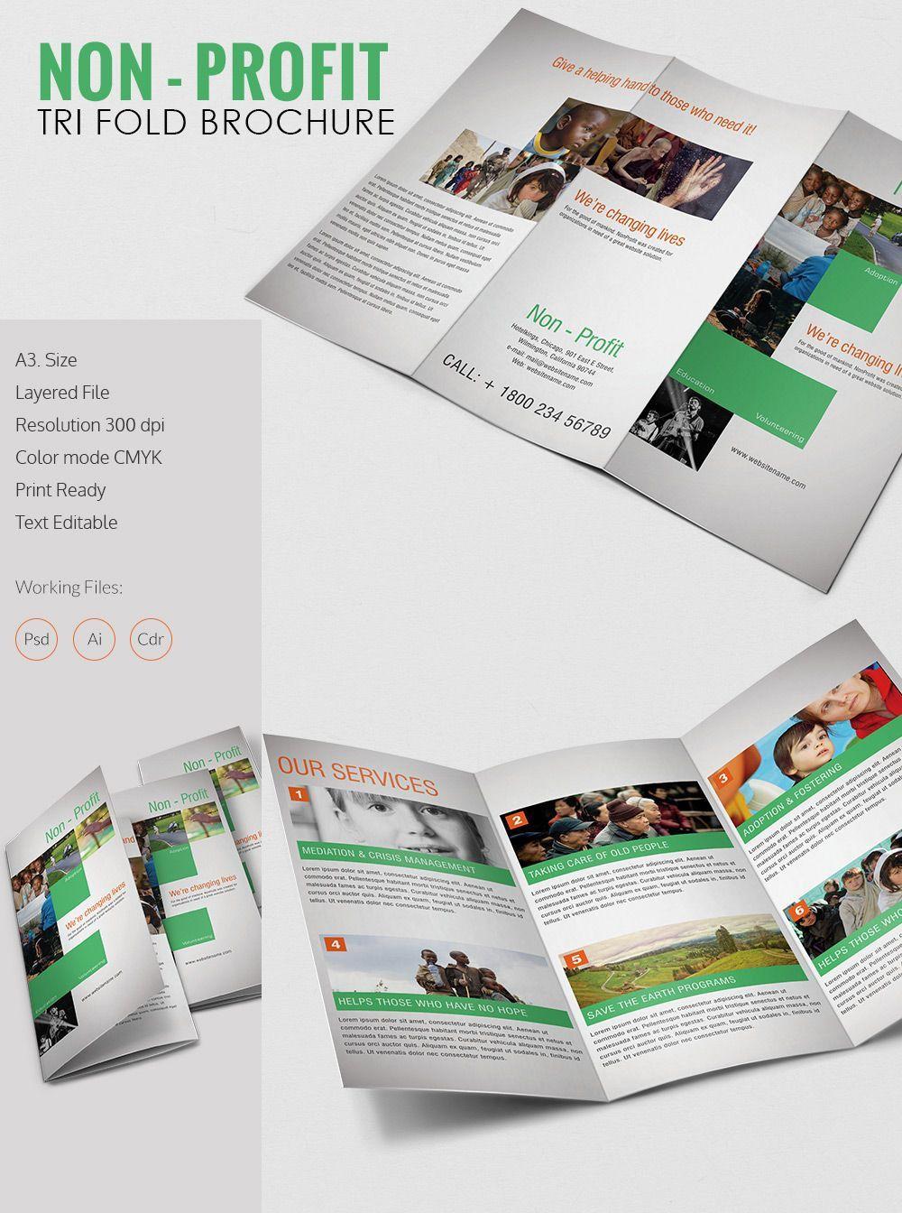 002 Stirring Indesign Trifold Brochure Template Photo  Tri Fold A4 Bi Free DownloadFull