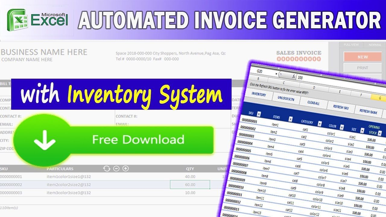 002 Stirring Inventory Control Excel Template Free Download Image Full