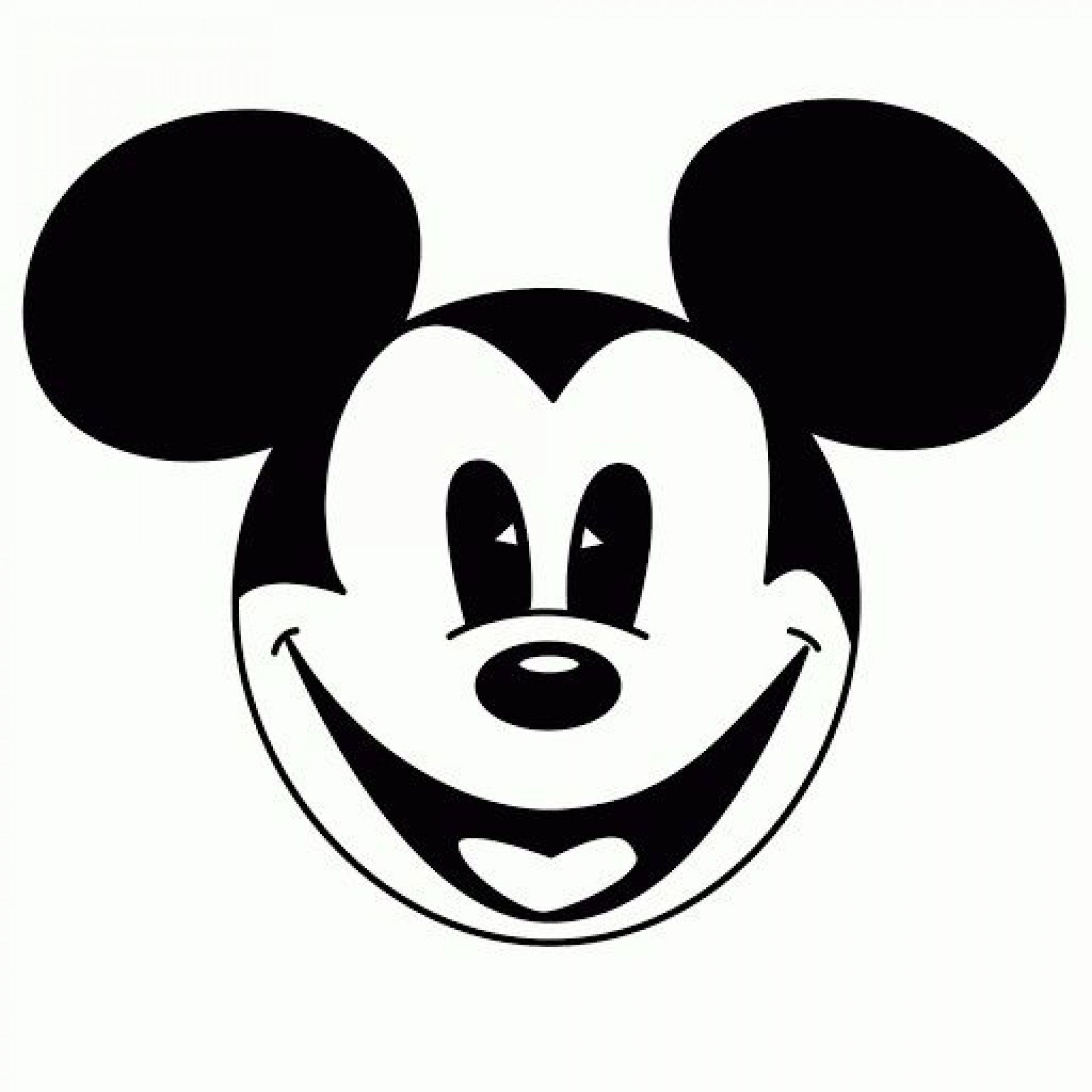 002 Stirring Mickey Mouse Face Cake Template Printable High Def Full