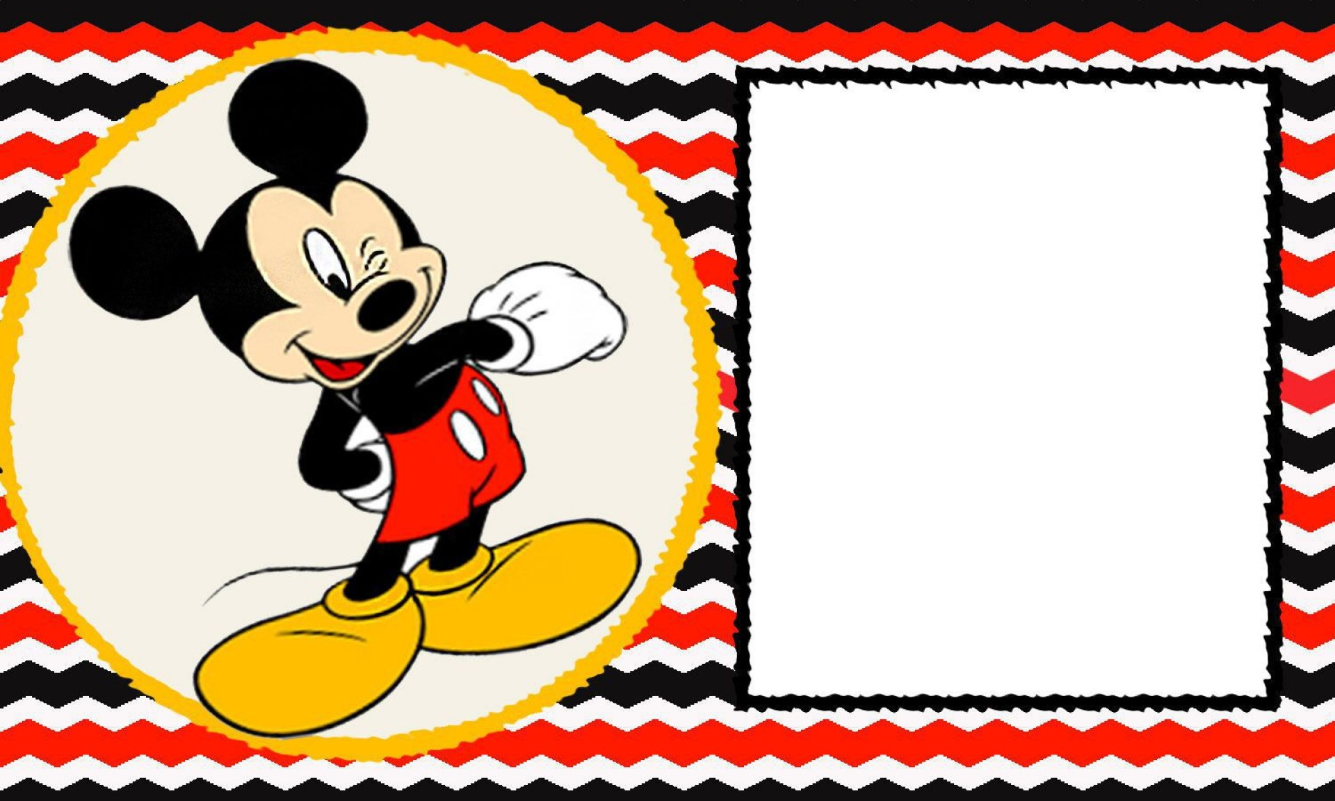 002 Stirring Mickey Mouse Invitation Template Highest Quality  Free Diy 1st Birthday Baby Download1920