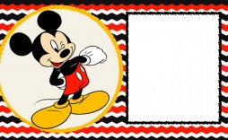 002 Stirring Mickey Mouse Invitation Template Highest Quality  Free Diy 1st Birthday Baby Download