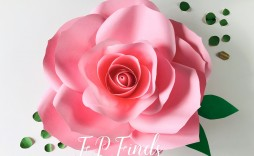 002 Stirring Paper Rose Template Pdf High Definition  Flower Giant Free Crepe