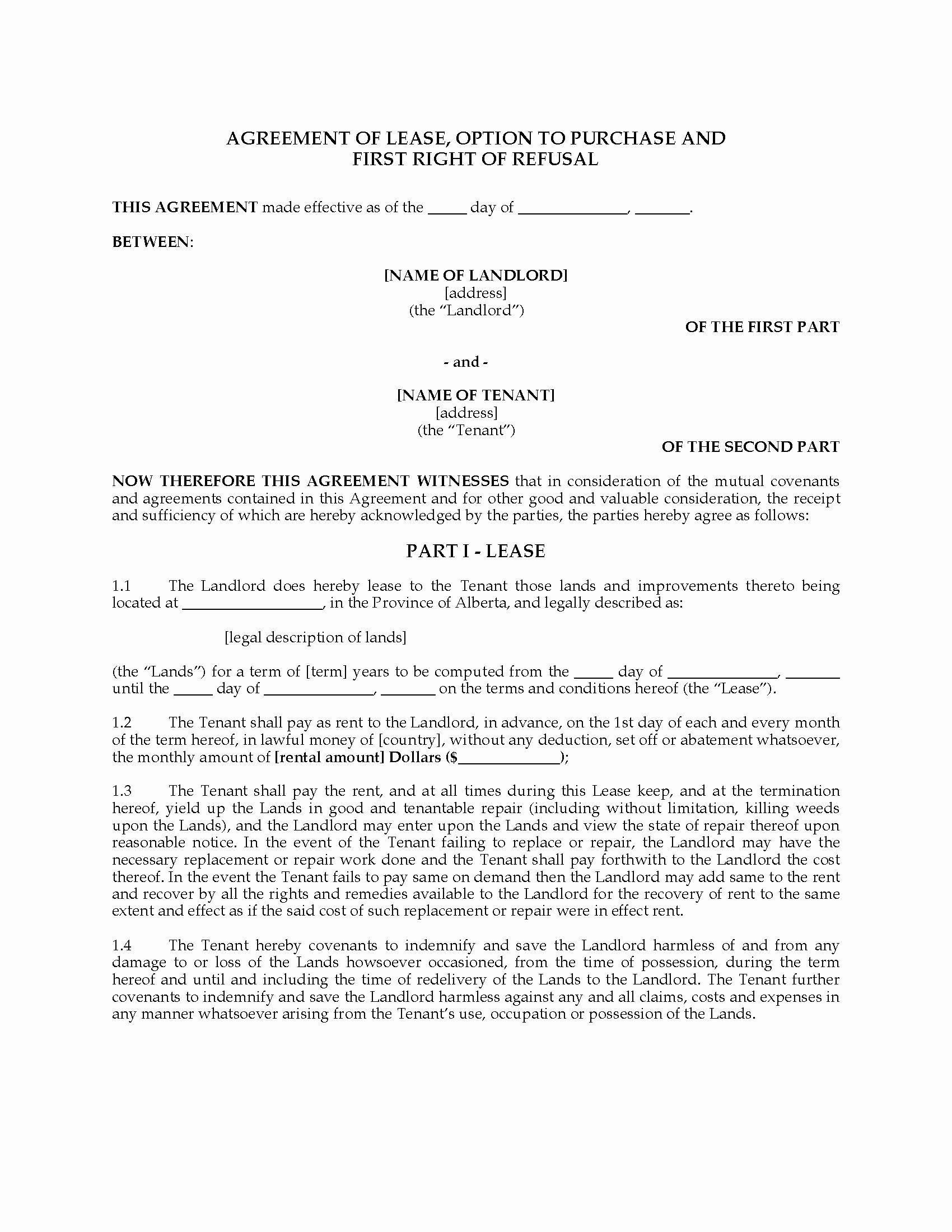 002 Stirring Room Rental Agreement Template Alberta Concept Full