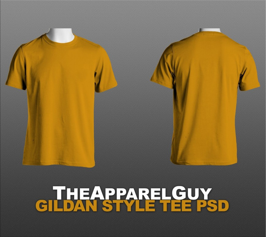002 Stirring T Shirt Template Psd Highest Clarity  Download Free Yellow