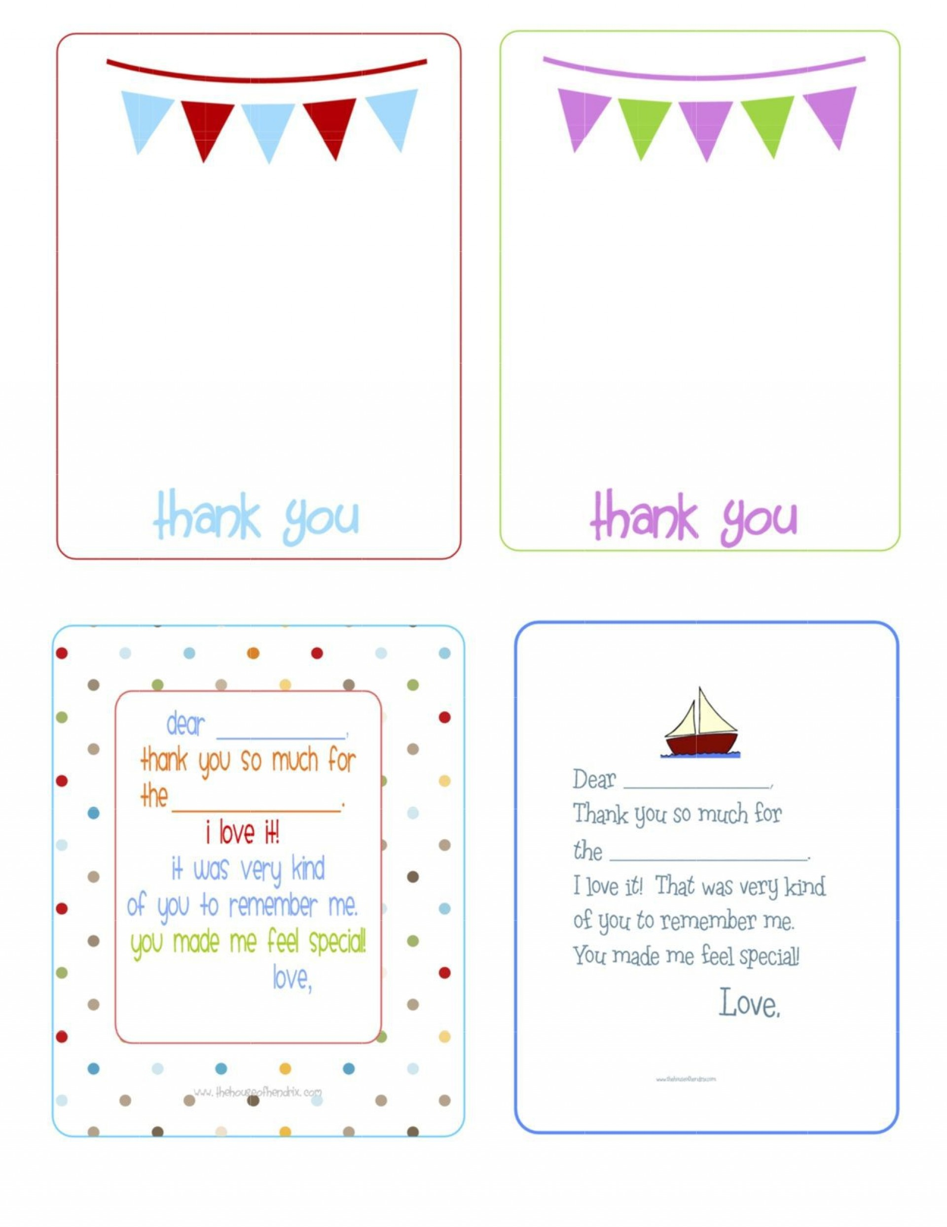 002 Stirring Thank You Note Template Printable Inspiration  Letter Baby Card Word1920