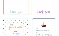 002 Stirring Thank You Note Template Printable Inspiration  Letter Baby Card Word