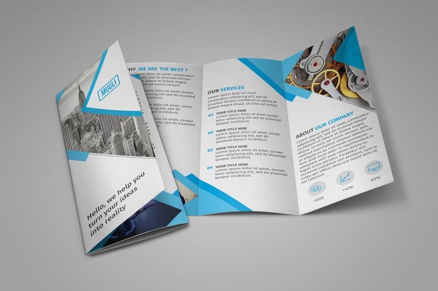 002 Stirring Three Fold Brochure Template Psd Free Sample  Tri 3