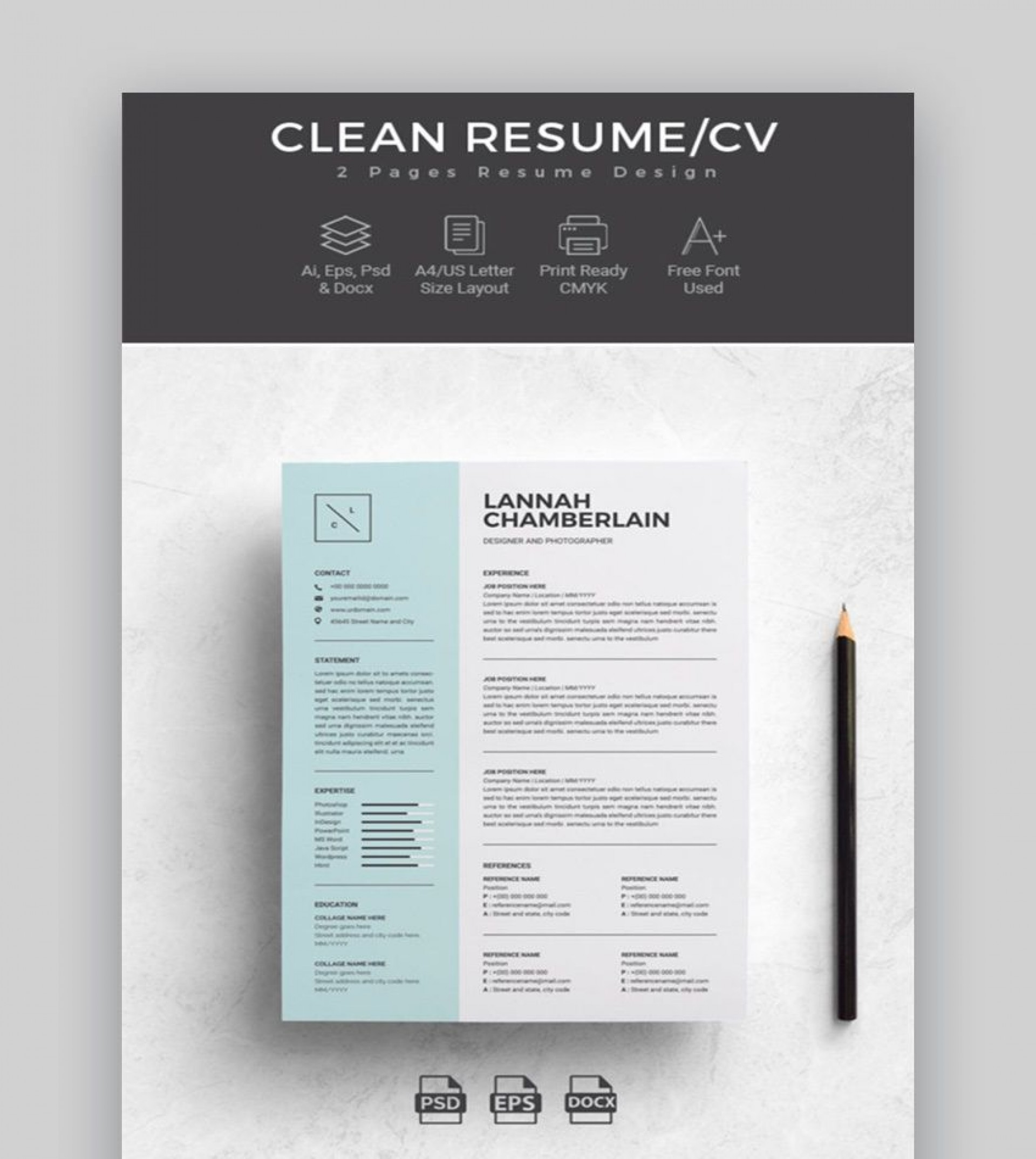 002 Stirring Two Column Resume Template Word Inspiration  Cv Free Microsoft1920