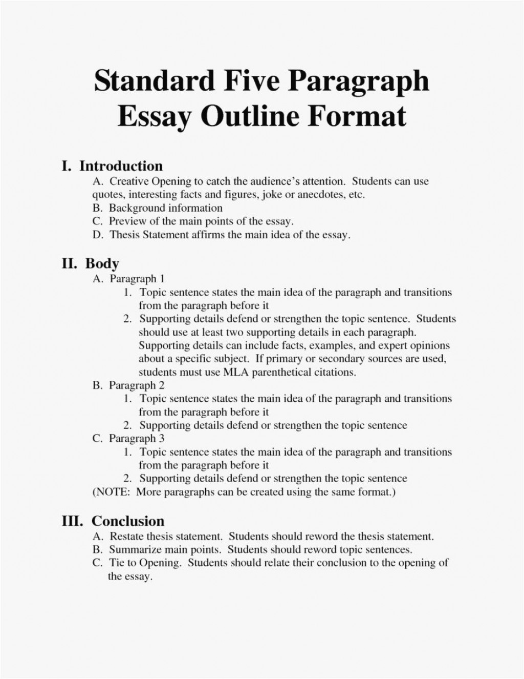 002 Striking College Essay Outline Template Pdf High Definition Large
