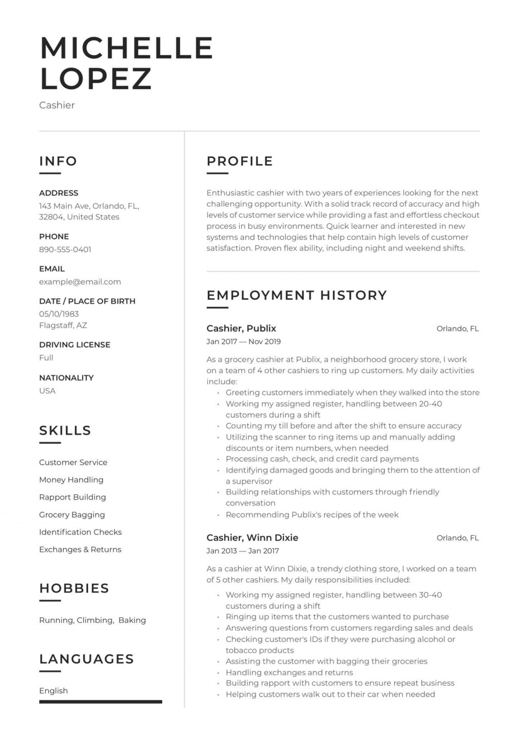002 Striking Customer Service Resume Template Concept  CvLarge