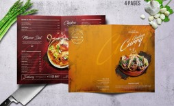 002 Striking Food Menu Card Template Free Download Sample