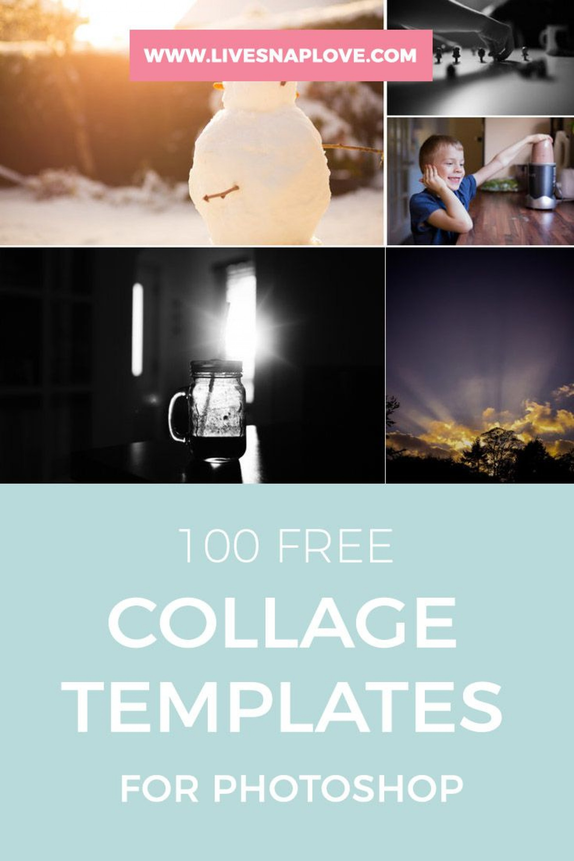 002 Striking Free Photoshop Collage Template Example  Templates Psd Download Photo For Element1920