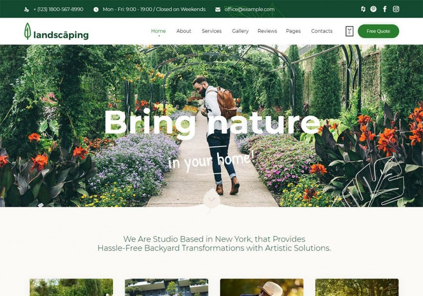 002 Striking Lawn Care Website Template Example