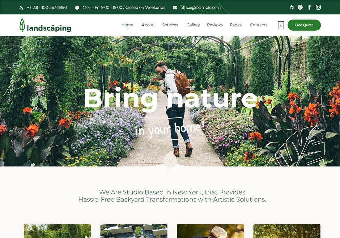 002 Striking Lawn Care Website Template Example Full