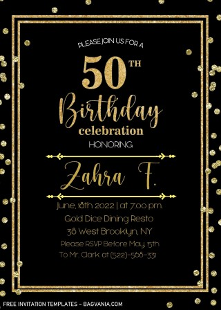 002 Striking Microsoft Word 50th Birthday Invitation Template Image  Wedding Anniversary Editable320