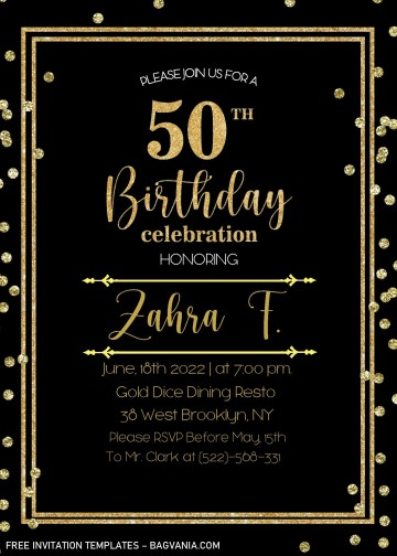 002 Striking Microsoft Word 50th Birthday Invitation Template Image  Editable Wedding Anniversary360