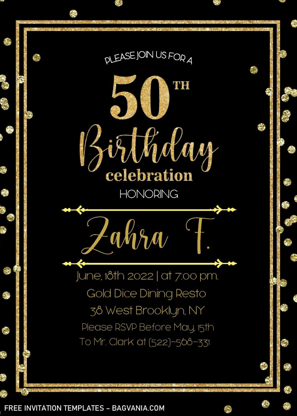 002 Striking Microsoft Word 50th Birthday Invitation Template Image  Wedding Anniversary Editable960