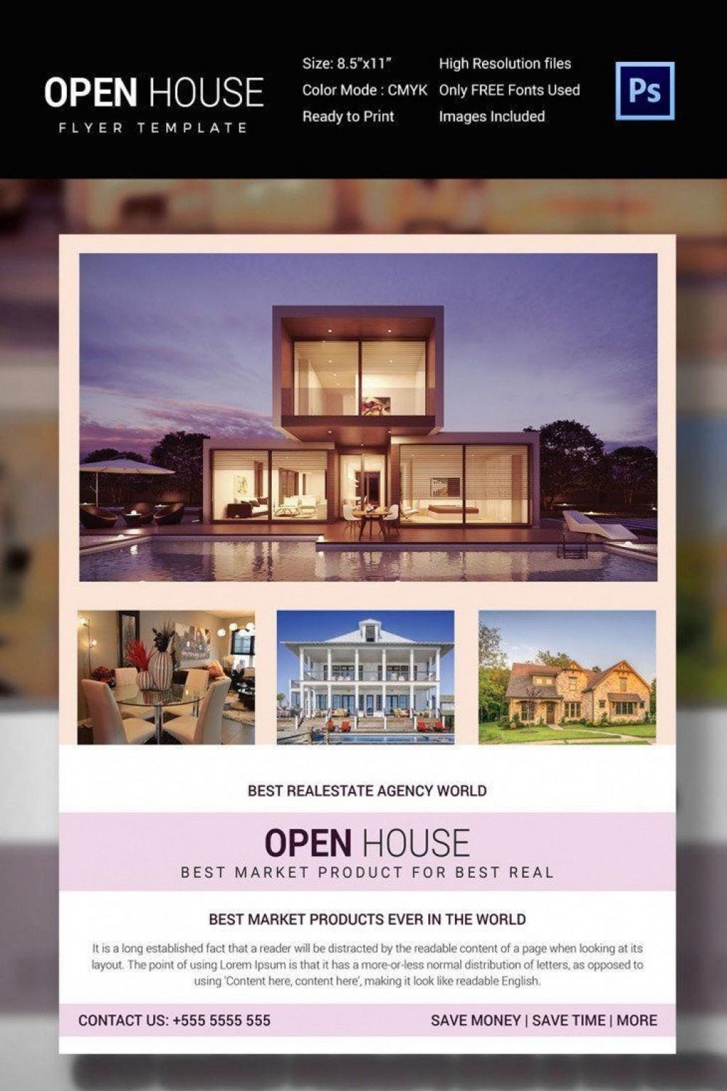 002 Striking Open House Flyer Template Free Sample  Microsoft Word School ChristmaLarge