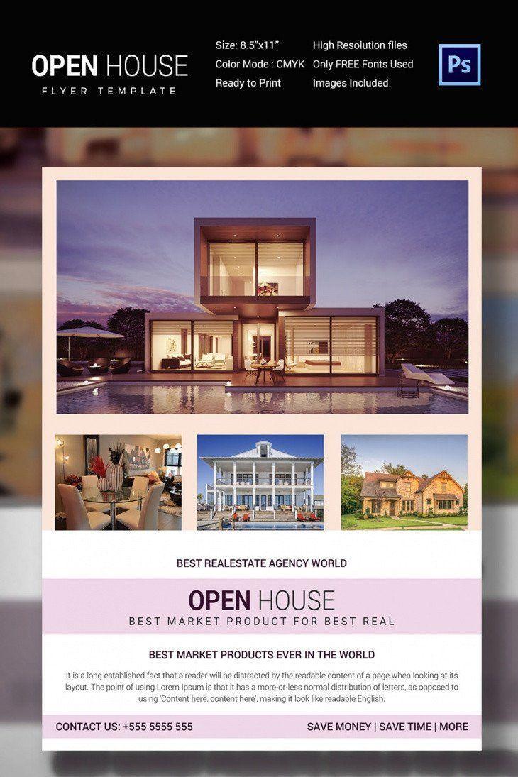 002 Striking Open House Flyer Template Free Sample  Microsoft Word School ChristmaFull