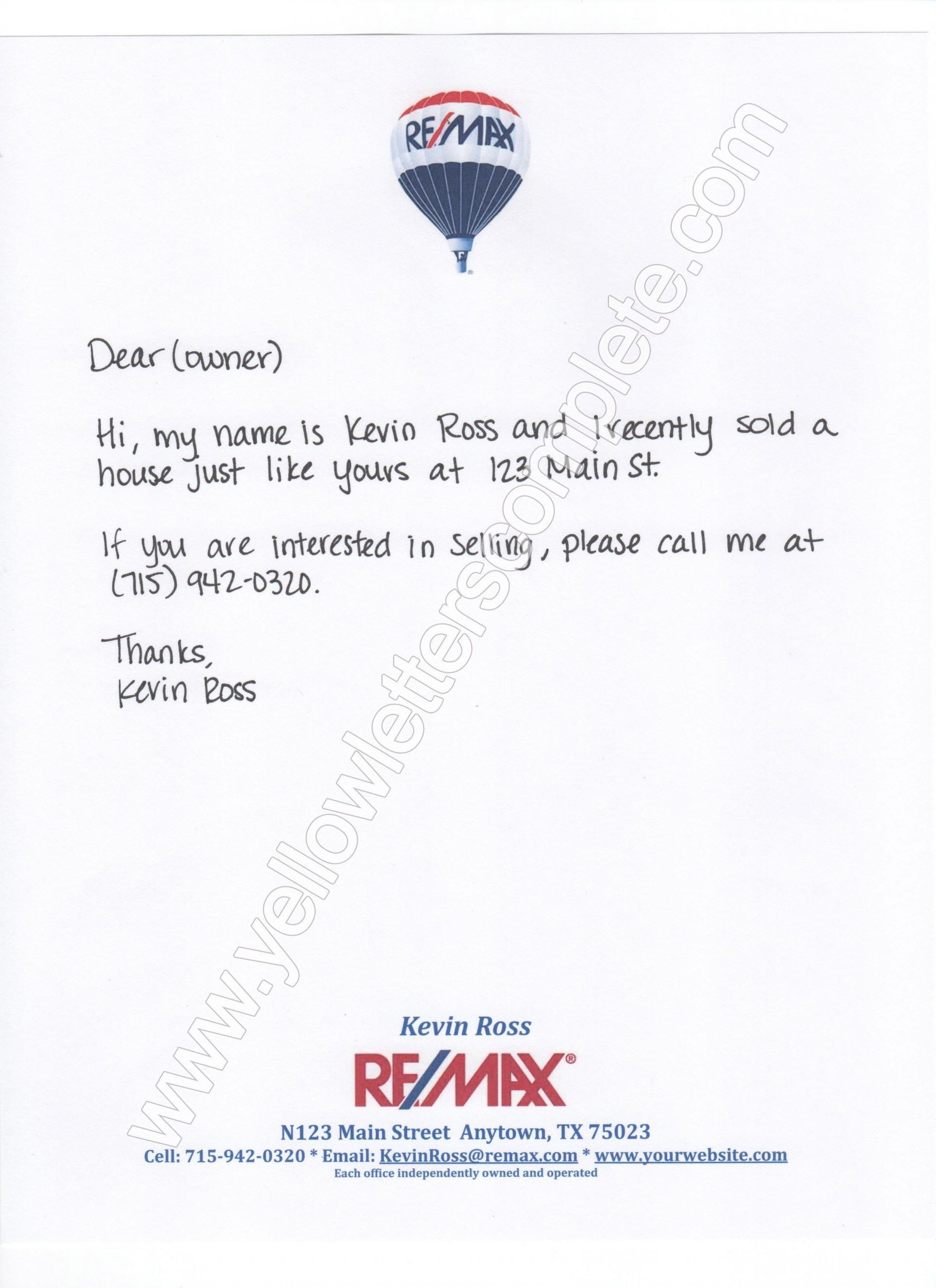 002 Striking Real Estate Marketing Letter Template Idea  Templates1920