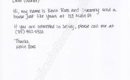 002 Striking Real Estate Marketing Letter Template Idea  Templates