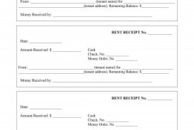 002 Striking Rent Receipt Template Doc Sample  House Format Download Free