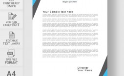 002 Striking Sample Letterhead Template Free Download Picture  Professional Design In Word Format