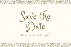 002 Striking Save The Date Postcard Template High Definition  Diy Free Birthday