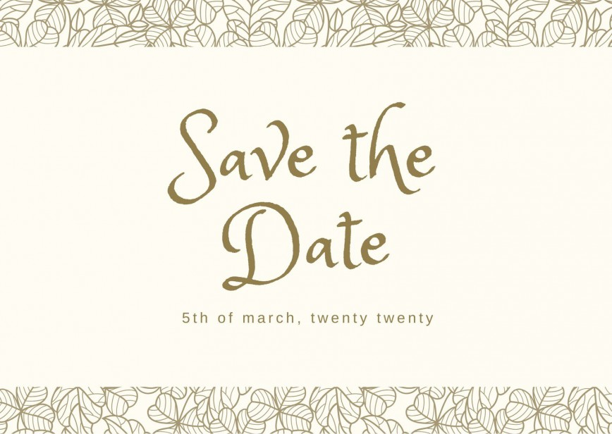 002 Striking Save The Date Postcard Template High Definition  Diy Free Birthday868