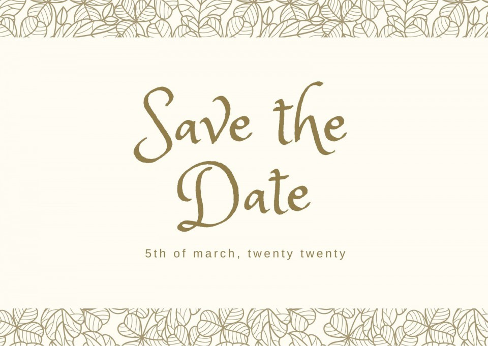 002 Striking Save The Date Postcard Template High Definition  Diy Free Birthday960