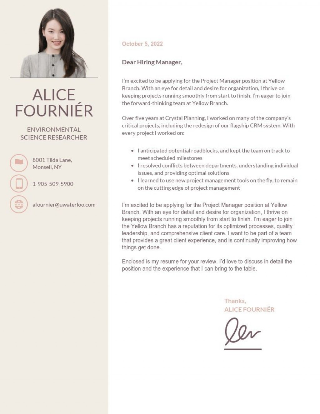 002 Striking Simple Cover Letter Template Word Design Large