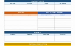 002 Striking Strategic Planning Template Free Example  Excel 6 It For Cio